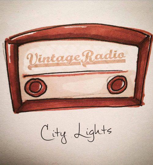 Vintage Radio cover city lights